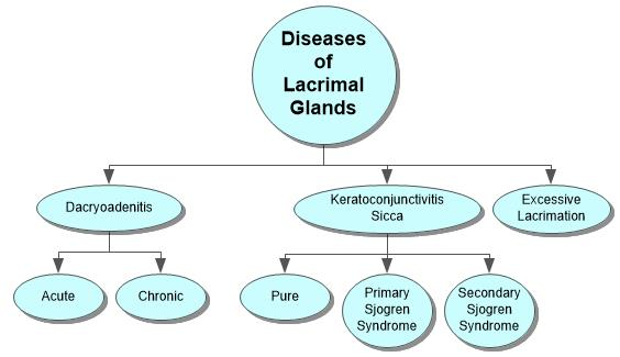 Diseases of Lacrimal Glands Concept Map